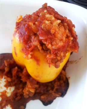 Lentil & Rice StuffedPeppers