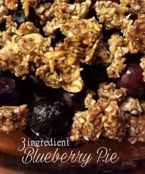 Blueberry Pie Using 3 Basic Ingredients(Vegan!)